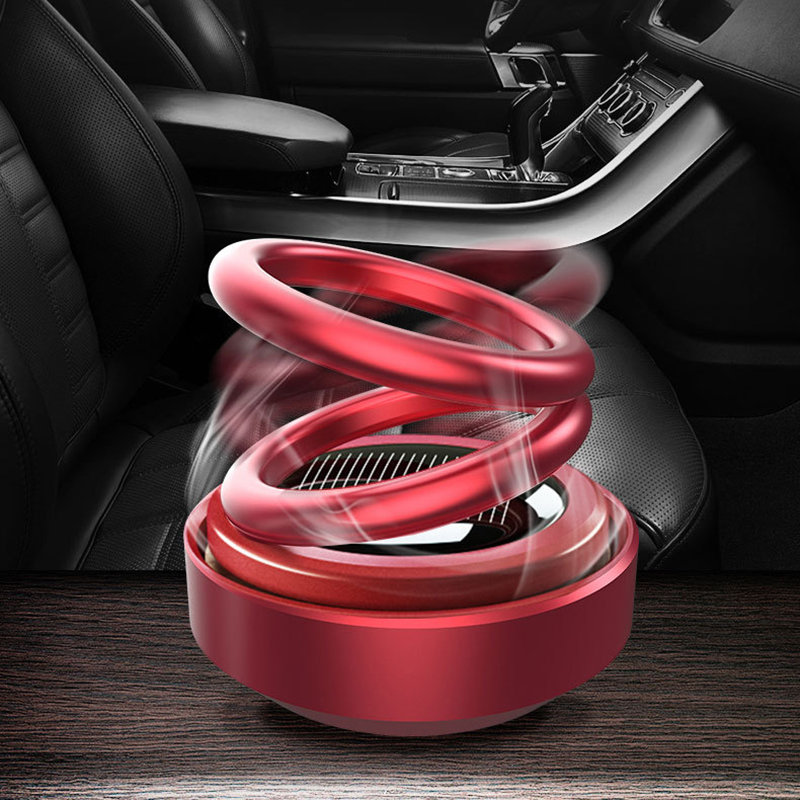 Car Double Loop Rotary Suspension Dashboard Perfume Seat Air Freshener Auto Aromatherapy Diffuser Interior Decor Car Accessories