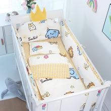 60*120cm 5pcs/set Crown Cushion Crib Bedding Set Cotton Toddler Baby Bed Cot Bumper Bedding Sheet For Girl Boys ZT37