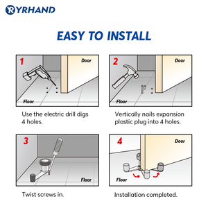 Image 5 - חכם מנעול אבזר דלת מנעול Rotatable נירוסטה דלת פקק עבור אלקטרוני מנעול דלת הגנה עבור אבטחה בבית