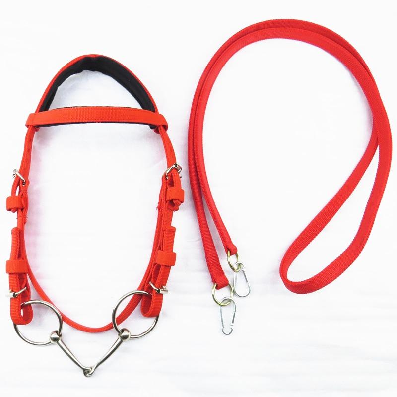 Horse Rope Halter Headcollar Equestrian Equipment Adjustable Horse Riding Bridle Safety Head Collar Horseback Strap Accessories 5