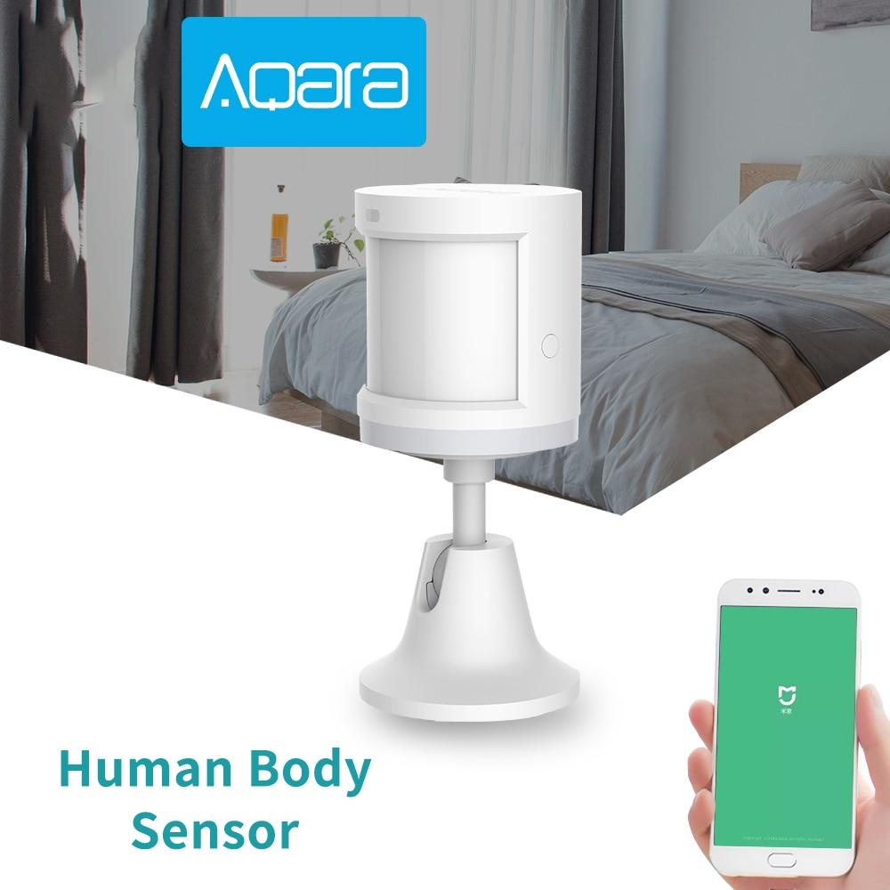 Купить с кэшбэком 100%Original Aqara Smart Human Body Sensor Motion ZigBee Security Home alarm System Mini Wireless PIR Motion Detector MiHome APP
