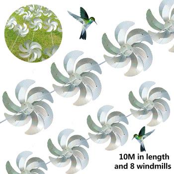 Przeciw ptakom Laser wiatrak odstraszacz ptaków wiatrak srebrny wiatraczek odblaskowy strach na wróble odstraszający napęd wiatrak ciąg tanie i dobre opinie CN (pochodzenie) Zwierząt Bird Repellent Windmill