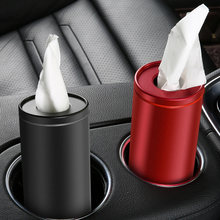 Hot Creative Car Tissue Box Metal Paper Towel Tube Auto Tissue Paper Holder Case Car Home for Girls Car Interior Accessories(China)
