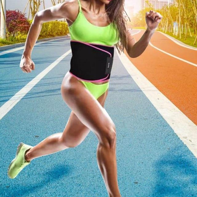 Waist Trimmer Belt Weight Loss Sweat Band Wrap Fat Tummy Stomach Sauna Sport Waist Support Waistband Running Gym Fitness Belts 5