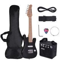 Ammoon-Kit de guitarra eléctrica para niños, Mini amplificador de 28 pulgadas, bolsa de guitarra, correa, Cable de Audio, estilo diestro