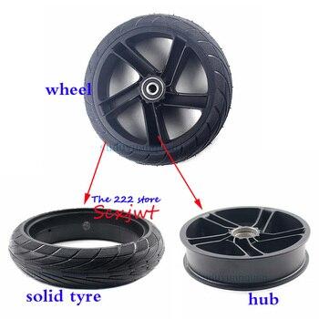 إطار عجلة 8 بوصة 200x50 إطار صلب من خليط معدني لدراجة شاومي ناينبوت سيجواي ES1 ES2 ES4 سكوتر كهربائي إطار عجلة خلفية مقاوم للانفجار
