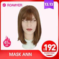 Roanyer silikon Ann maske latex sexy cosplay künstliche realistische haut maske für crossdresser transgender männlichen transen Drag Queen