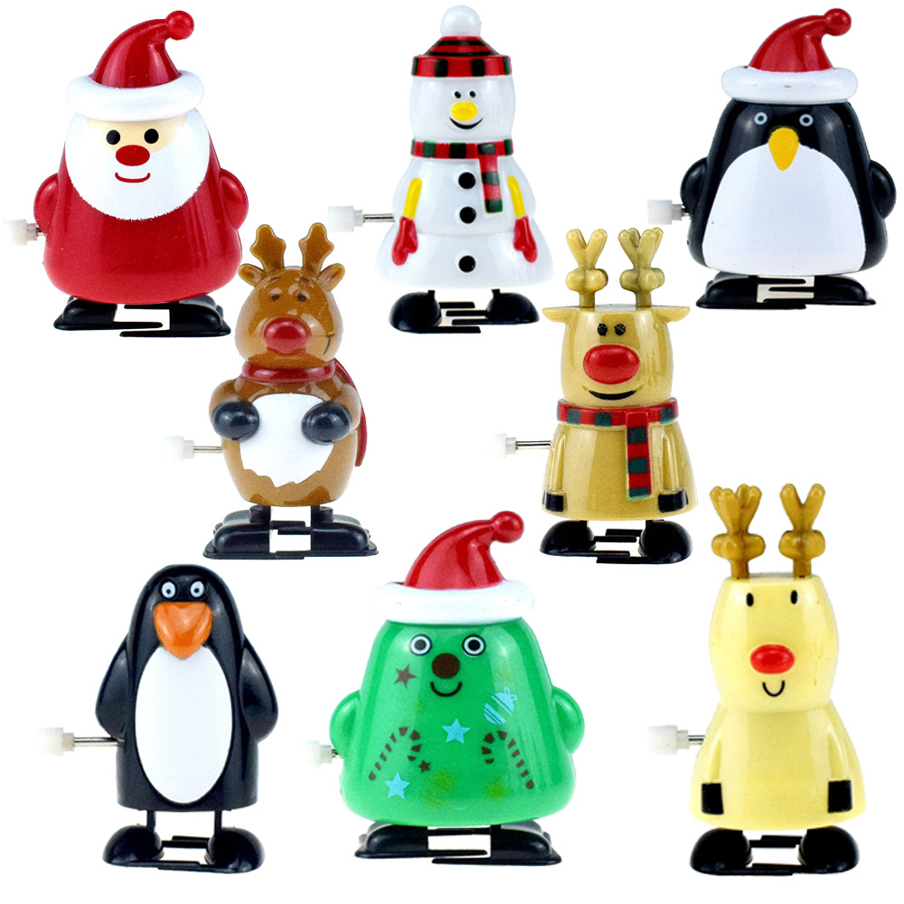 Winding Winding Will Walk Santa Claus Elk Penguin Snowman Wind-up Toy Christmas Gift