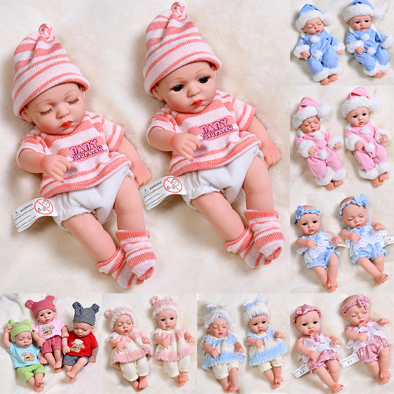 JINGXIN PRINSES 30cm Reborn Baby Dolls Waterproof Baby Doll Lifelike Real Baby Toys Full Silicone Body Reborn Doll Toy Gifts