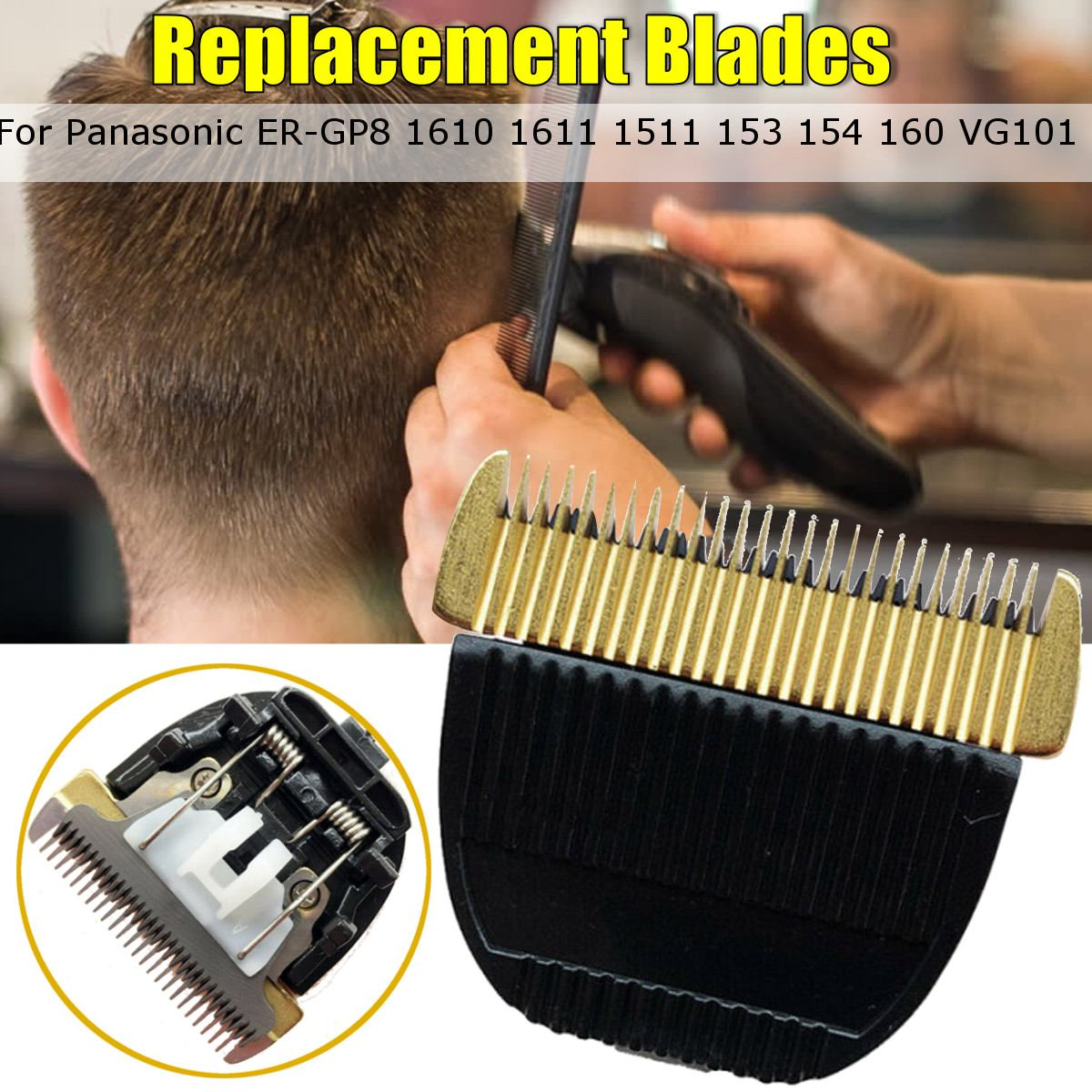 Ceramic Titanium  Replacement Clipper Blades For Panasonic ER-GP8 1610 1611 1511 153 154 160 VG101 Cutter Hair Grooming Trimmer