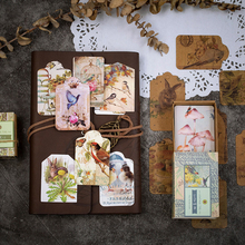 50pcs/lot Vintage Psalms Series Notes Tag Memo Pad Sticker Message nice gift stationery