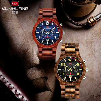 цена Wooden Wristwatch Male Natural Wood Watch for Men Vintage Mens Wooden Watch Gifts for Male Top Brand Luxury онлайн в 2017 году