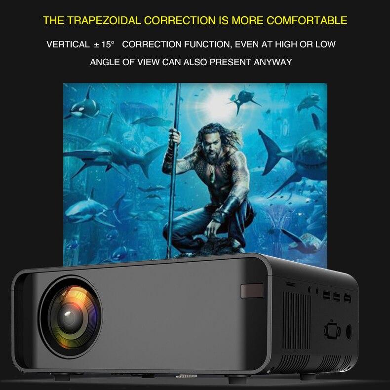 3 tipo W80 proyector de hogar HD HDMI/AV/USB/SD/VGA soporte Dolby inalámbrico de sonido/6,0 GAndroid 1 + 8/básica 2300 lúmenes del Reglamento - 4