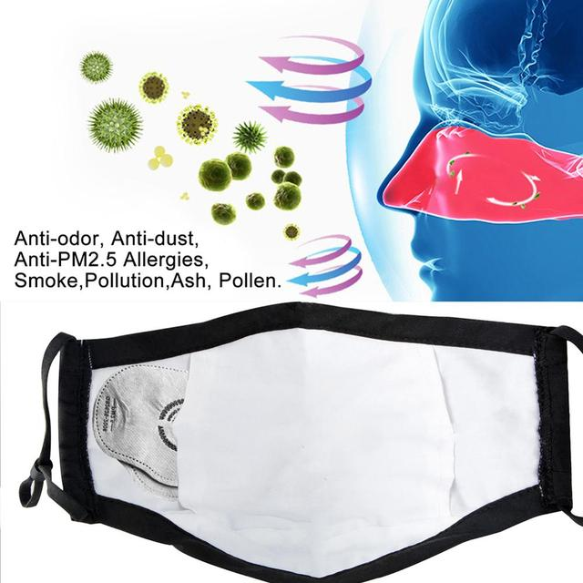 1PCS Mouth Face Mask Filter With Breathing Valve Anti-Fog Dustproof Anti Flu Mask Respirator Safety Protective Face Mask 4