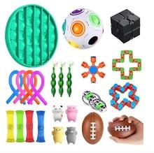 Antistress Fidget jouet ensemble de Stress jouets Sensoriel cordes extensibles magnétiques presser Fidget pois gousse haricot lente augmentation animaux jouets
