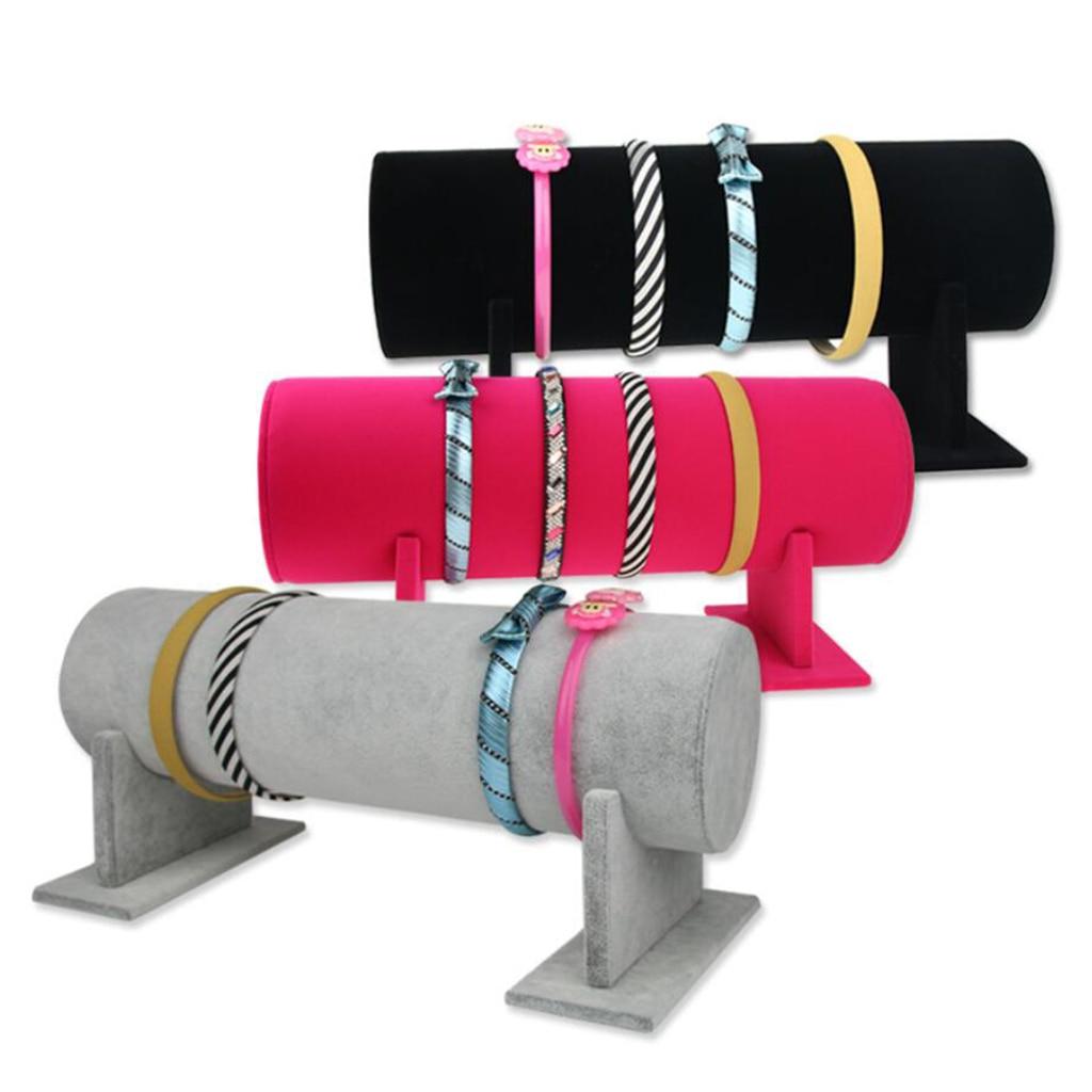 T-Bar Jewelry Display Holder Girls Headband Jewelry Organizer Display Rack - Grey