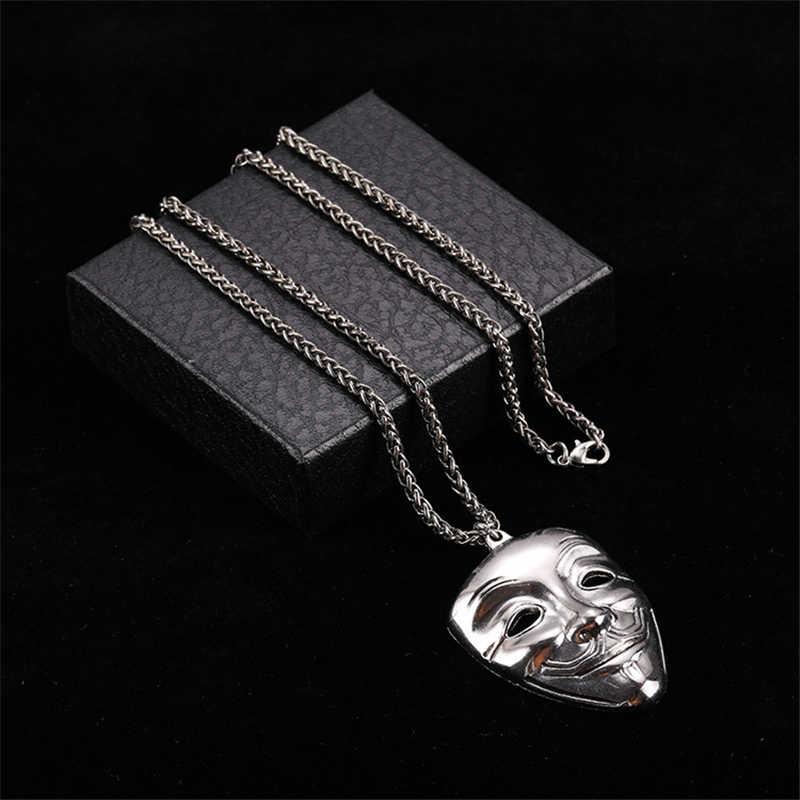 Paslanmaz çelik erkek Hip Hop kolye rapçi çapraz kafatası kolye uzun kolye gümüş zincir kazak buhar Punk kolye hediyeler