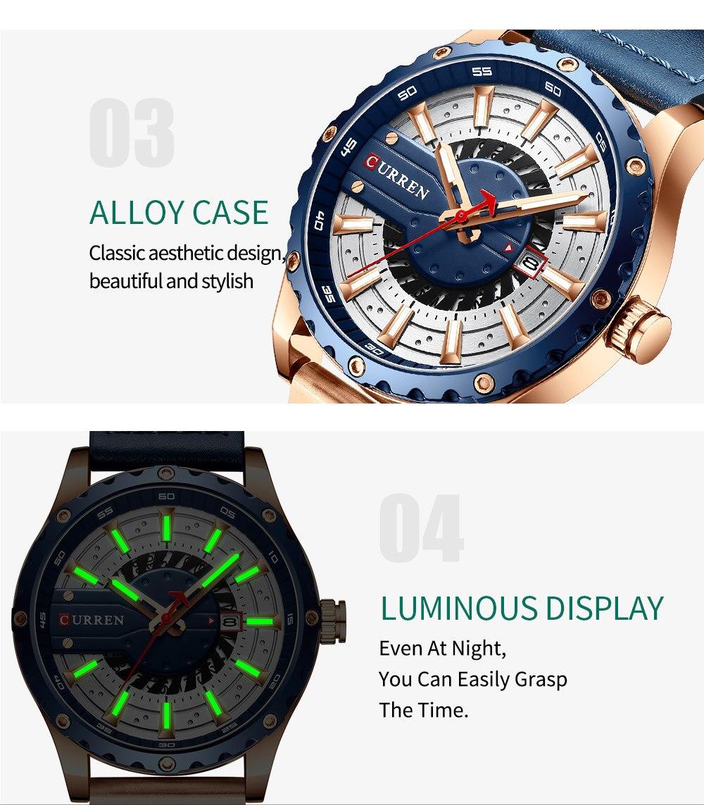 Hfa8be8936fc34feda74f640b0e5dfca9H CURREN Watch Wristwatch  New Chic Luminous hands