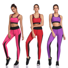 Gym 2 Piece Clothes Set for Women Sports Bra and Leggings Athletic Wear Yoga clothes