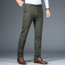 2020 new Men's casual pants Elastic high waist cot