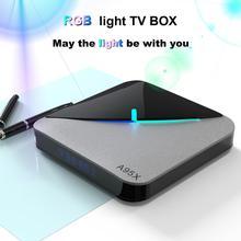 a95x F3 воздуха 8K tv box с 6 цифр RGB светильник Dual Band WI-FI BT Поддержка PLEX YOUTUBE 4K игры Netflix комплект компьютерной приставки к телевизору