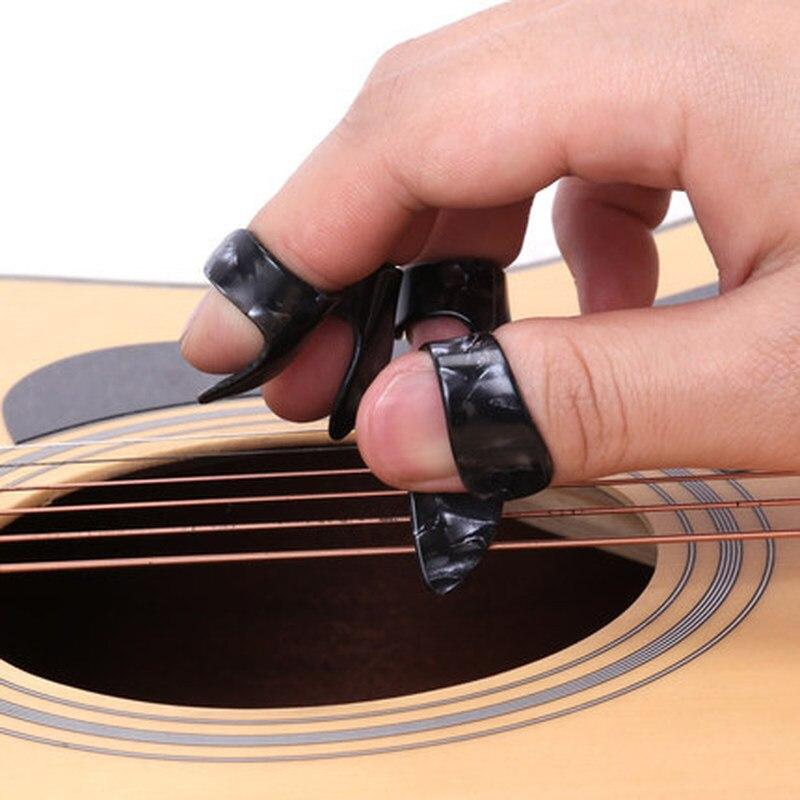 1 Piece Thumb Finger Guitar Pick Celluloid Mediator Thumb Pick For Acoustic Electric Guitarra Random Color