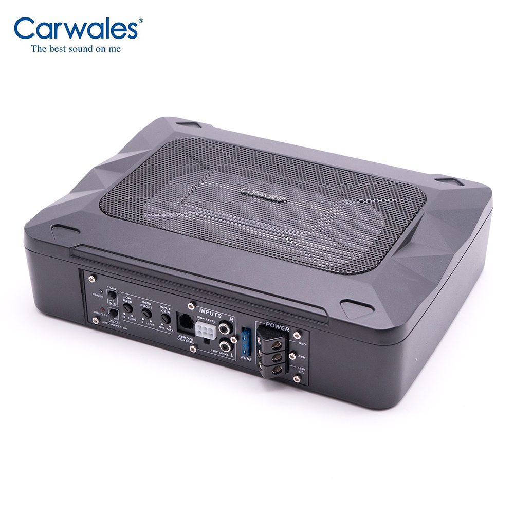Carwales 600W Car Audio Subwoofer Amplifier Auto Under Seat Active Subwoofer Car Woofer Active Speaker Ultra thin Bass Small Enclosed Subwoofer Systems     - title=