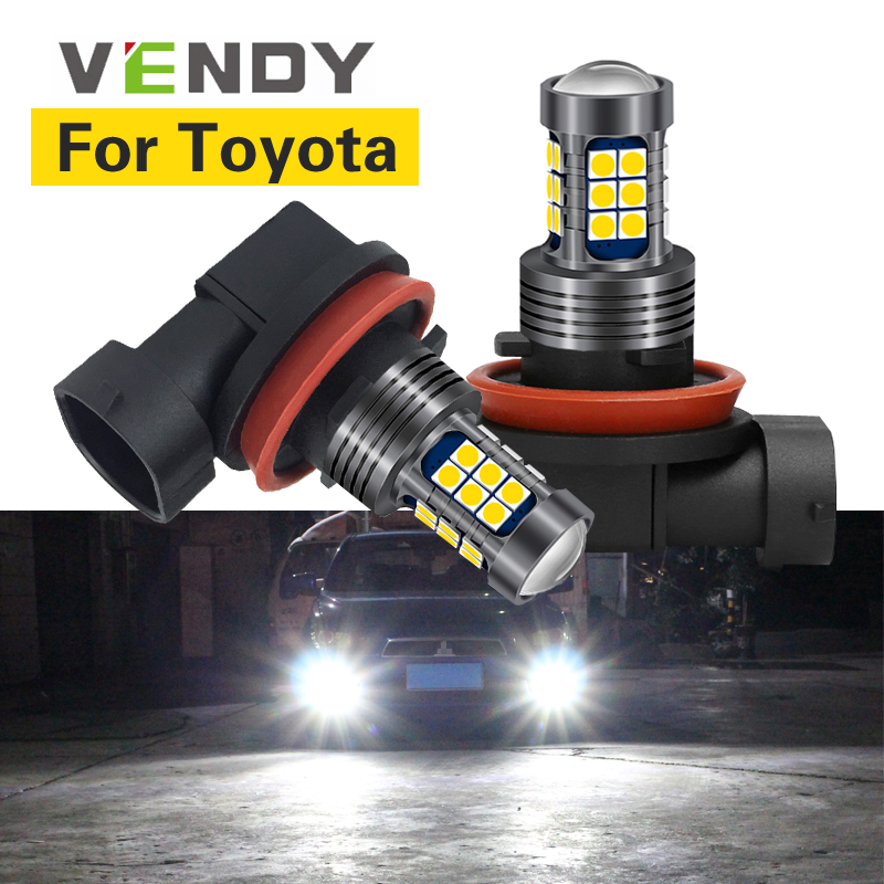 1pcs For <font><b>Toyota</b></font> avensis <font><b>Corolla</b></font> hilux auris FJ land cruiser 100 hilux chr camry prius Car LED Light Lamp H8 H11 H16 9006 HB4 HB3 image