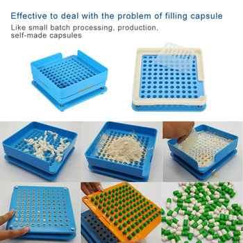 Capsule filler plate 100 Holes Manual Capsule Filling Machine #0 Pharmaceutical Capsules Maker DIY Medicine Herbal pill powder