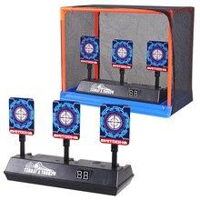 Gun-Accessories Electric-Target Sports-Guns Scoring Nerf Bullets Kids Outdoor Auto-Reset