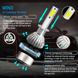 PANDUK C6 H1 H3 светодиодный фонарь Hulbs H7 светодиодный автомобильный фонарь H4 880 H11 HB3 9005 HB4 9006 H13 6000K 72W 12V 8000LM Автомобильные фары