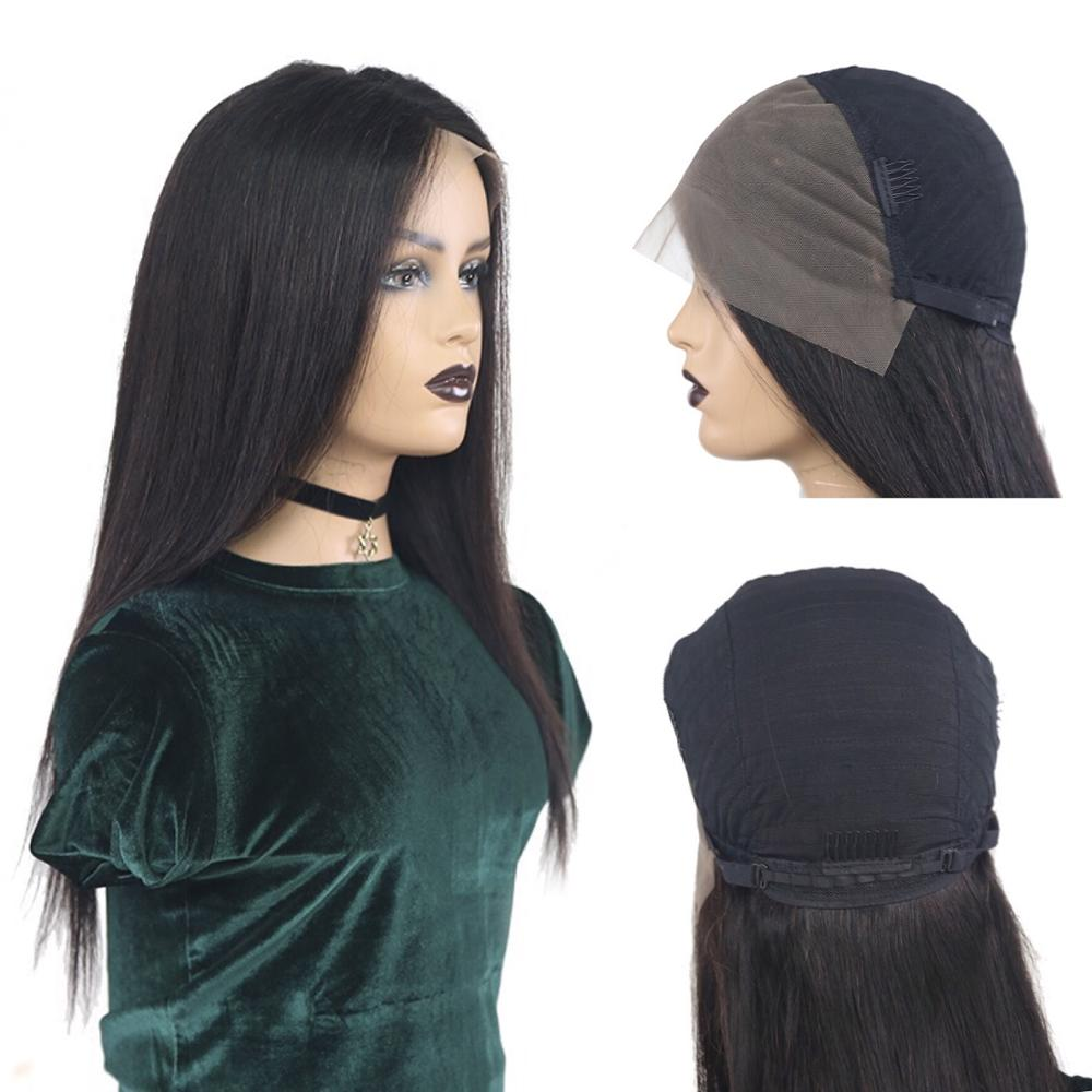 【IJOY】Lace Front Human Hair Wigs 4x13 Lace Front 18''-28'' Straight Lace Front Brazilian Wig Natural Hair 150% Remy Pre-Plucked