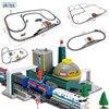Akitoo Simulatie elektrische techniek rail auto lumberyard raffinaderij auto loader crane station multi-scenario speelgoed #1005