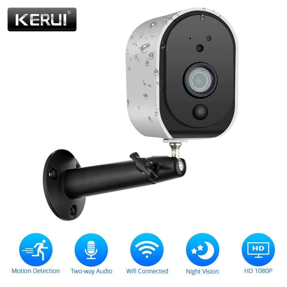 KERUI Outdoor 1080p Full HD Battery 2.4G WiFi Wireless IP66 Waterproof IP Camera Indoor Home Security H.265 Surveillance Camera