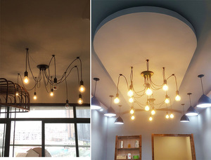 Image 5 - Plafonnier Led suspendu en forme daraignée, design nordique Vintage, plusieurs formes rétro réglables bricolage design classique, luminaire dintérieur