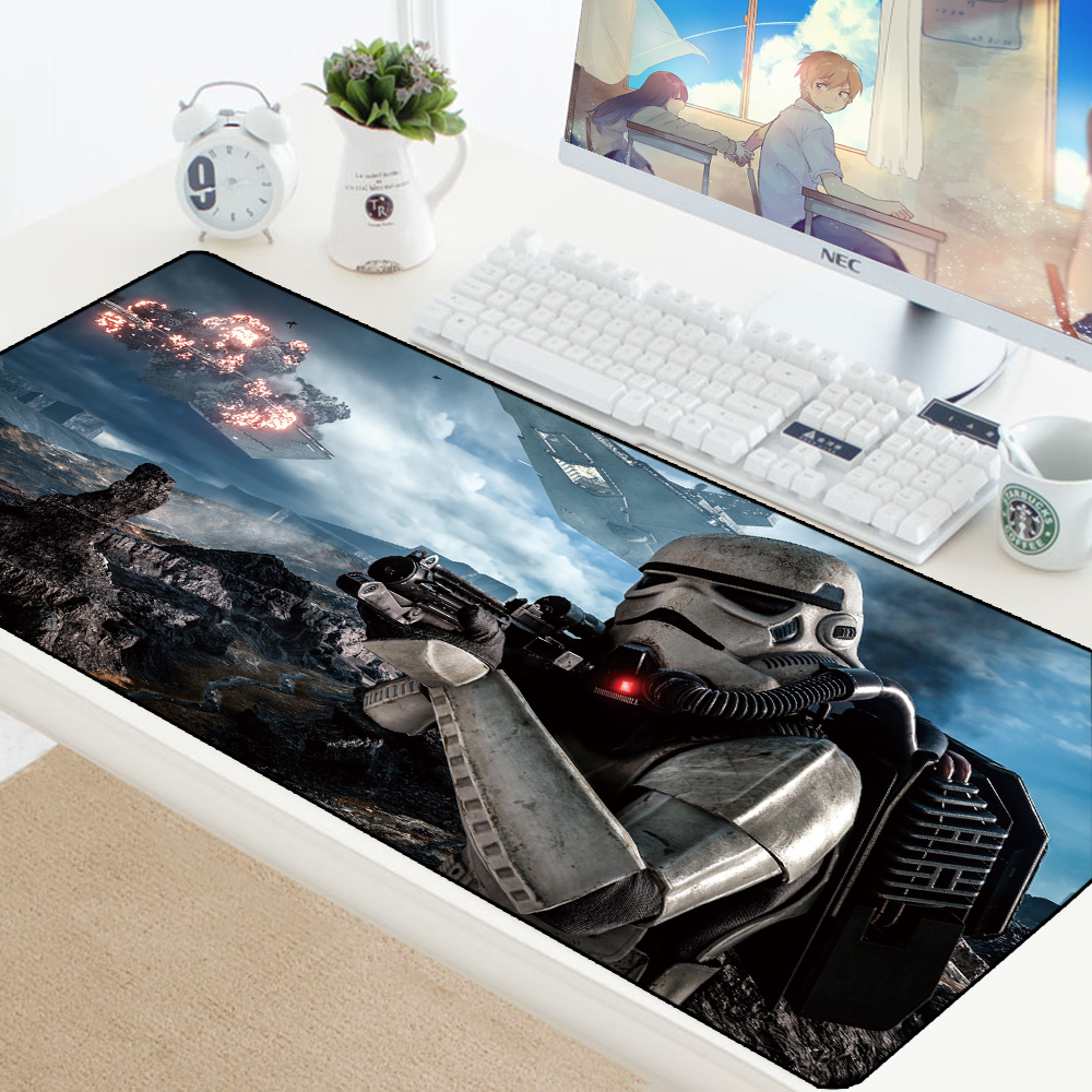 Star Wars Gaming Mouse Pad XL Computer Mousepad Large XL Rubber Desk Keyboard Mouse Pad Mat High Quality Gamer Big Boy Gift Pad