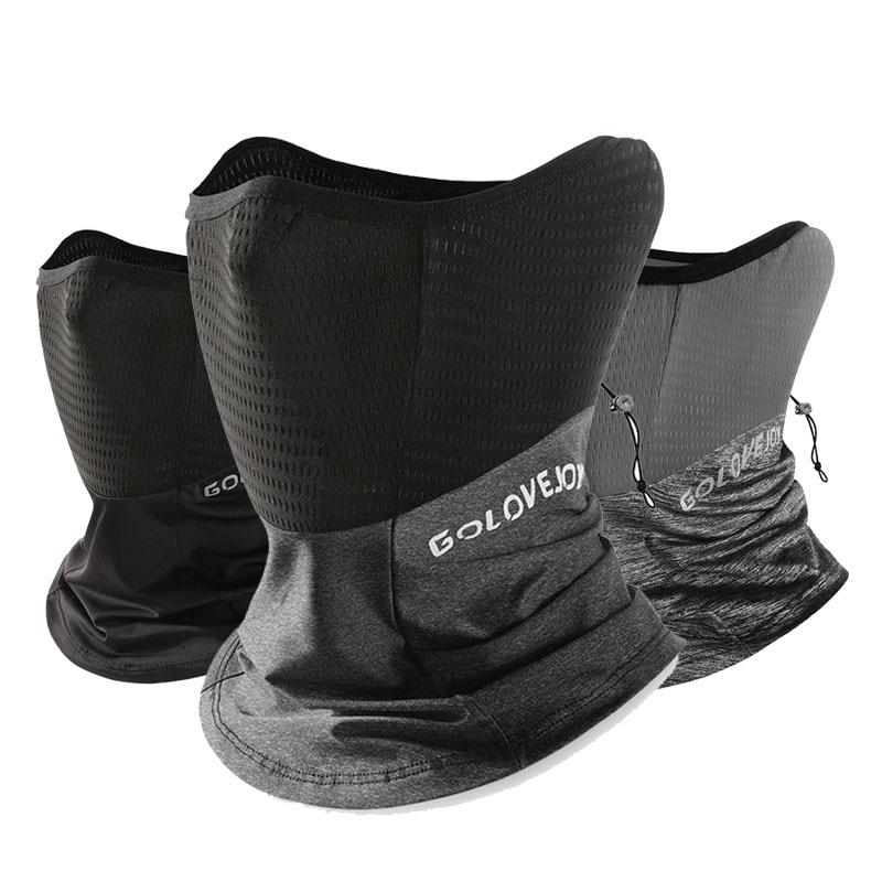 Summer Black Caps  Running Scarf Anti-UV Headwear Bicycle Bandana Sports Fishing Mask Cover Magic Scarf ice silk