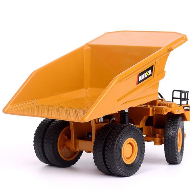1/60 Scale Truck Die-cast Alloy Metal Car Excavator Mine Dump Truck Excavator Model Toy Engineering Truck For Kids Children Gift