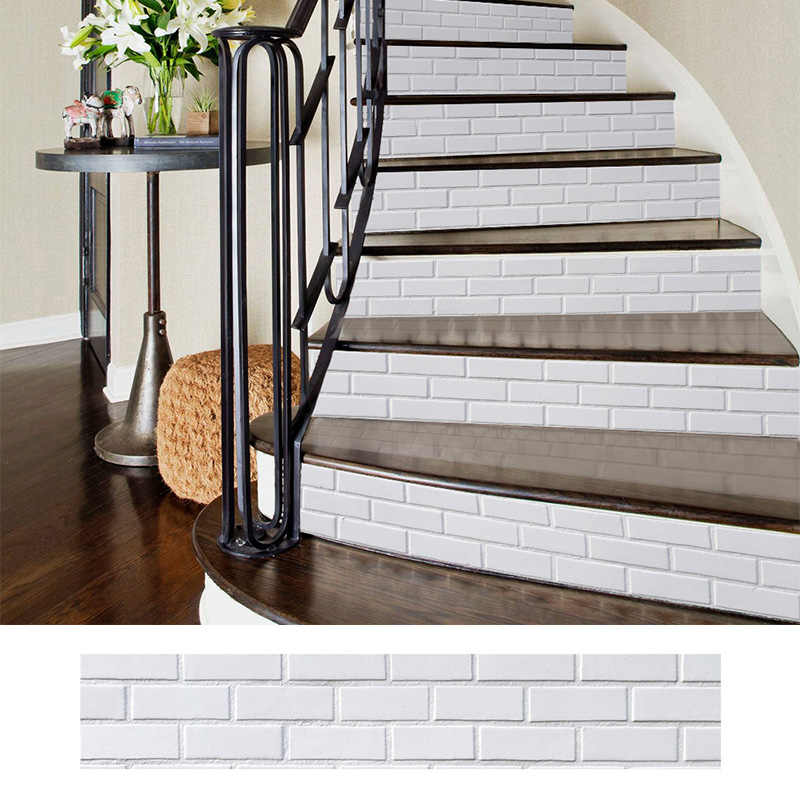 diy removable stickers for stairs stairway stickers self adhesive ceramic tiles pvc wallpaper vinyl decal home decoration