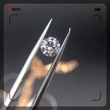 Loose Moissanite 0.5ct Carat 5.0mm E F Color Round Brilliant Cut Diamond jewelry ring bracelet DIY material