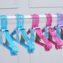 Dip-coated hanger with hook Multi-color non-slip hangers for wet and dry clothes 10 pcs/package