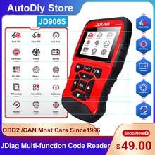 Jdiag jd906s muti-função leitor de código obd2 ferramentas diagnósticas varredor do carro ler erro/falhas testador de bateria para todo o sistema windows