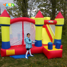 Yard Inflatable bouncy castle 4X3.8X2.5M Kids Trampolines Castle Jumping castle for Kid Obstacle Bouncer Funny Game Door to Door tarpaulin inflatable bouncy castle bouncer for children party indoor