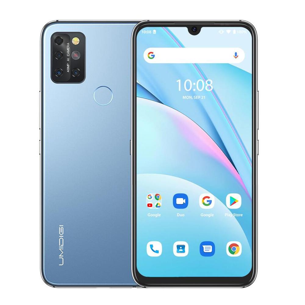 """UMIDIGI A9 Max Android 11 Samrtphone 48MP AI Matrix Quad Camera Helio P60 Octa Core 8GB + 128GB 6.3 """"FHD + wyświetlacz 4150mAh telefon komórkowy"""