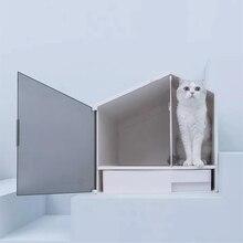 1 полузакрытый дезодорирующий кошачий Туалет с маленьким домиком для кошки песочный горшок