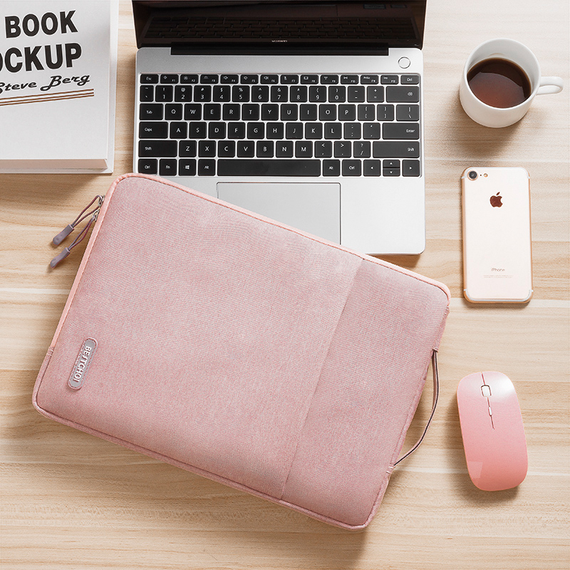 Polyester Laptop Sleeve Bag For Macbook Air 13 Case A1932 Retina Pro 13 Air 13.3 A1466 Zipper Notebook Handbag Women Men Cover