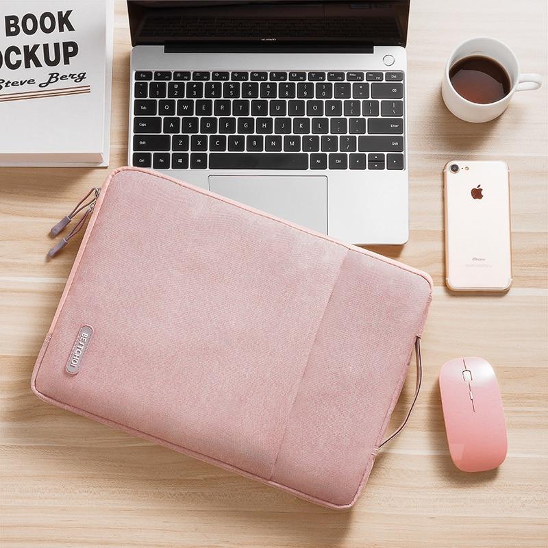 Polyester Laptop Sleeve Bag For Macbook Air 13 Case A1932 Retina Pro 13 Air 13.3 A1466 Zipper Notebook Handbag Women Men Cover