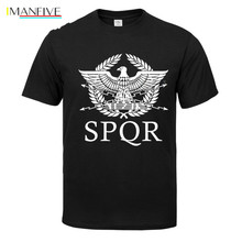 SPQR Roman Gladiator Imperial Golden Eagle T-Shirt Mens Casual Short O-Neck T Shirt Harajuku Tops Tees Shirt цена