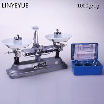 (1000g/1g) Laboratory counter balance & weight sets Lab Balance Mechanical Scale Free Shipping цена 2017