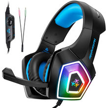 Zeroten V1 Gaming Headset Stereo Bass Heaphone With Mic LED Light for PS4 Xbox One PC+5000DPI 6 Buttons Pro Gaming Mouse(China)